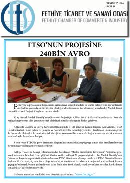 Sayı-29 - Fethiye Ticaret ve Sanayi Odası