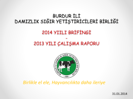 2014 Brifing 2013 Çalışma Raporu