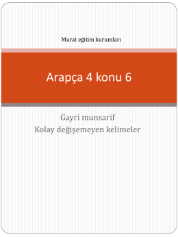Arapça 4 konu 6