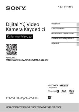 Dijital YÇ Video Kamera Kaydedici