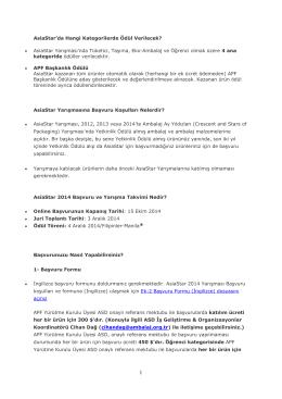 2014 AsiaStar 2014 Başvuru Koşulları