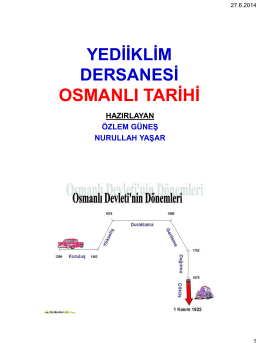 2014 kpss osmanlı tarihi yılsonu seminer sunumu