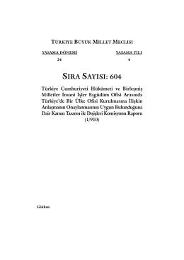 604 - Türkiye Büyük Millet Meclisi