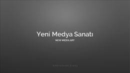 Yeni Medya Sanatı.key - Inet-tr