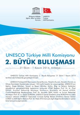 UNESCO Türkiye Millî Komisyonu 2. Büyük Buluşması 31 Ekim-1