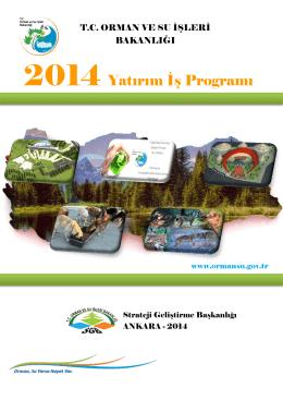 2014 Yatırım İş Programı - Strateji Geliştirme Başkanlığı