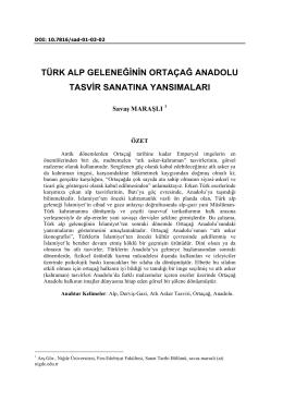 türk alp geleneğinin ortaçağ anadolu tasvir sanatına yansımaları