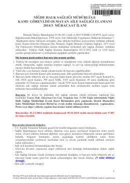 kamu görevlisi olmayan ase ilan metni