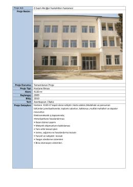 Proje Durumu - KSM Mekanik