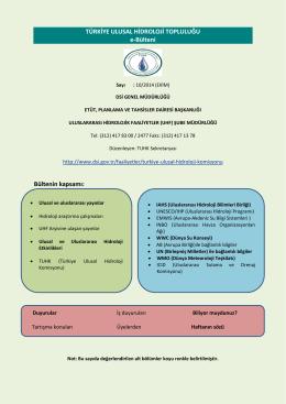 Ekim 2014 Hidroloji Bülteni - Devlet Su İşleri Genel Müdürlüğü