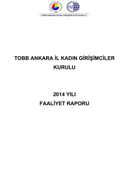 faaliyet raporu - Ankara Sanayi Odası