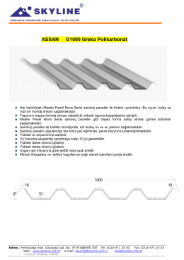 greka assan panel arası,master panel ,nova panel için polikarbonat