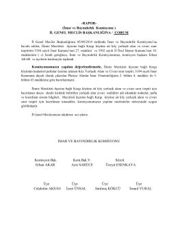 İmar ve Bayındırlık Komisyonu