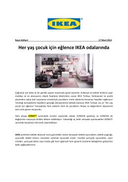 Her yaş çocuk için eğlence IKEA odalarında