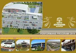 2014 Yılı Performans Programı - Konya Büyükşehir Belediyesi