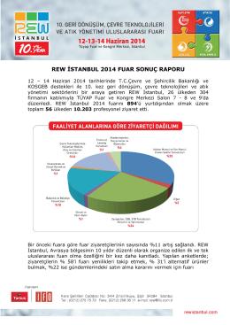 REW İSTANBUL 2014 FUAR SONUÇ RAPORU