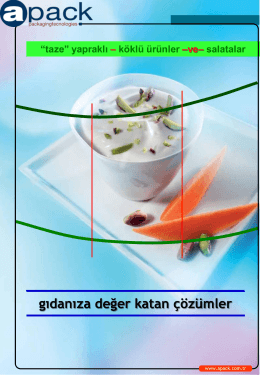 taze gıda ve salata