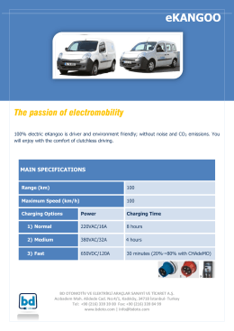 Download eKangoo vehicle specifications