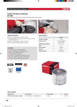 Yangın Durdurucu Bandaj CP 646