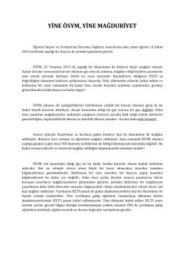 yine ösym, yine mağduriyet - Avukat Mustafa Kemal Batur Hukuk