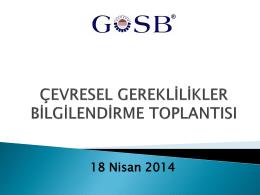 Çevre Bilgilendirme Toplantısı 2014