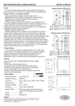 MULTİFONKSİYONLU ZAMAN RÖLESİ ER-08 ve ERV-08