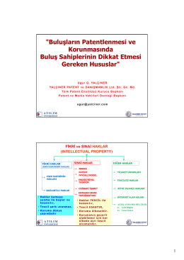 patent / faydalı model