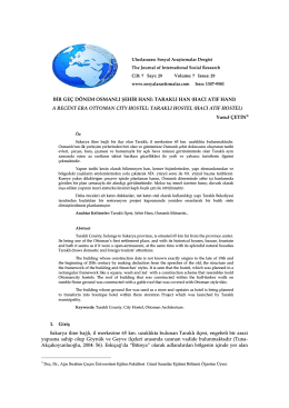 hacı atıf hanı - Journal of International Social Research