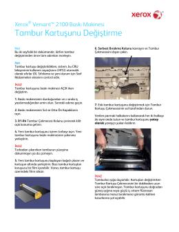 Tambur Kartuşunu Değiştirme - Xerox Support and Drivers