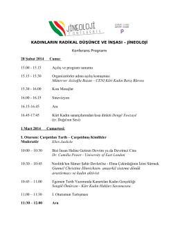 Konferans Programi PDF