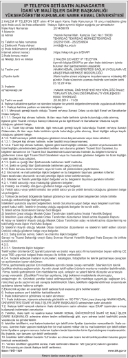 IP TELEFON SETİ SATIN ALINACAKTIR İDARİ VE