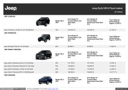Jeep Eylül 2014 Fiyat Listesi