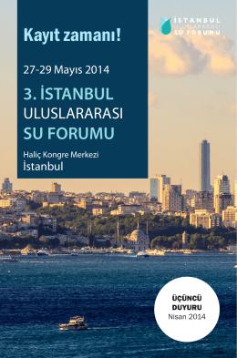 3IUSF_Üçüncü Duyuru.indd - 3. İstanbul Uluslararası Su Forumu