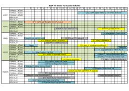 2014 Turnuva Takvimi