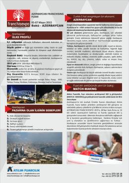 AZERBAYCAN - Atılım Fuarcılık
