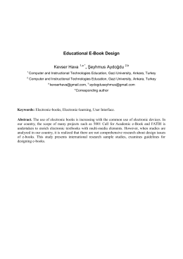 Educational E-Book Design Kevser Hava , Şeyhmus