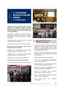 17. uluslararası metalurji ve malzeme kongresi 11