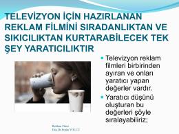 TV Reklamcılığı - Doç. Dr. Ergün Yolcu