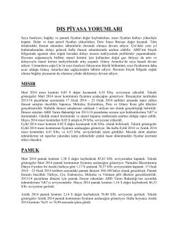 31 ocak 2014 tarihli haftalık dış piyasa yorumları