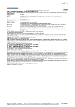 Sayfa 1 / 1 16.07.2014 https://ekap.kik.gov.tr/EKAP/Ortak