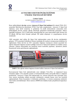 autocoro 8 rotor iplikçiliğinde yüksek teknoloji devrimi