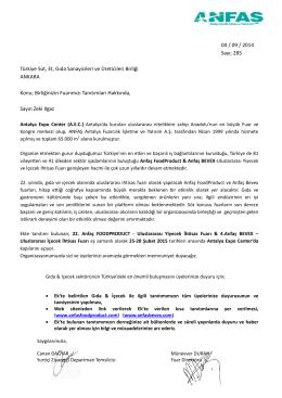 Fuar - Detaylı Bilgi - Türkiye Süt, Et, Gıda Sanayicileri ve Üreticileri