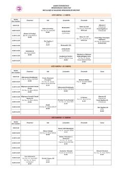 Metalurji ve Malzeme Mühendisliği 2014-2015