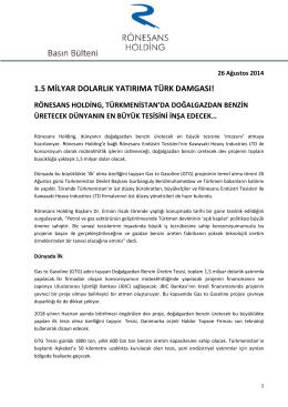 1.5 milyar dolarlık yatırıma türk damgası!