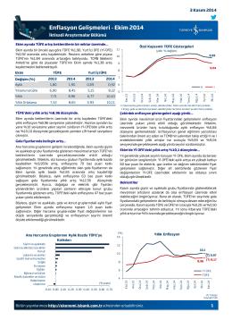 Enflasyon Gelişmeleri - Ekim 2014