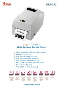 Argox OS-2140 Teknik Özellikler