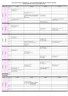 kocaeli sağlık yüksekokulu 2004-2005-eğitim