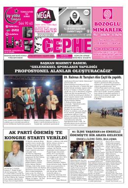 13.10.2014 Tarihli Cephe Gazetesi