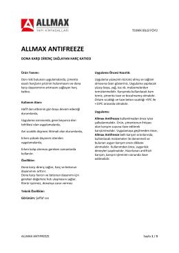 allmax antıfreeze - Allmax Yapı Kimyasalları