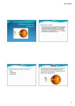 Refraksiyon kusurları PDF